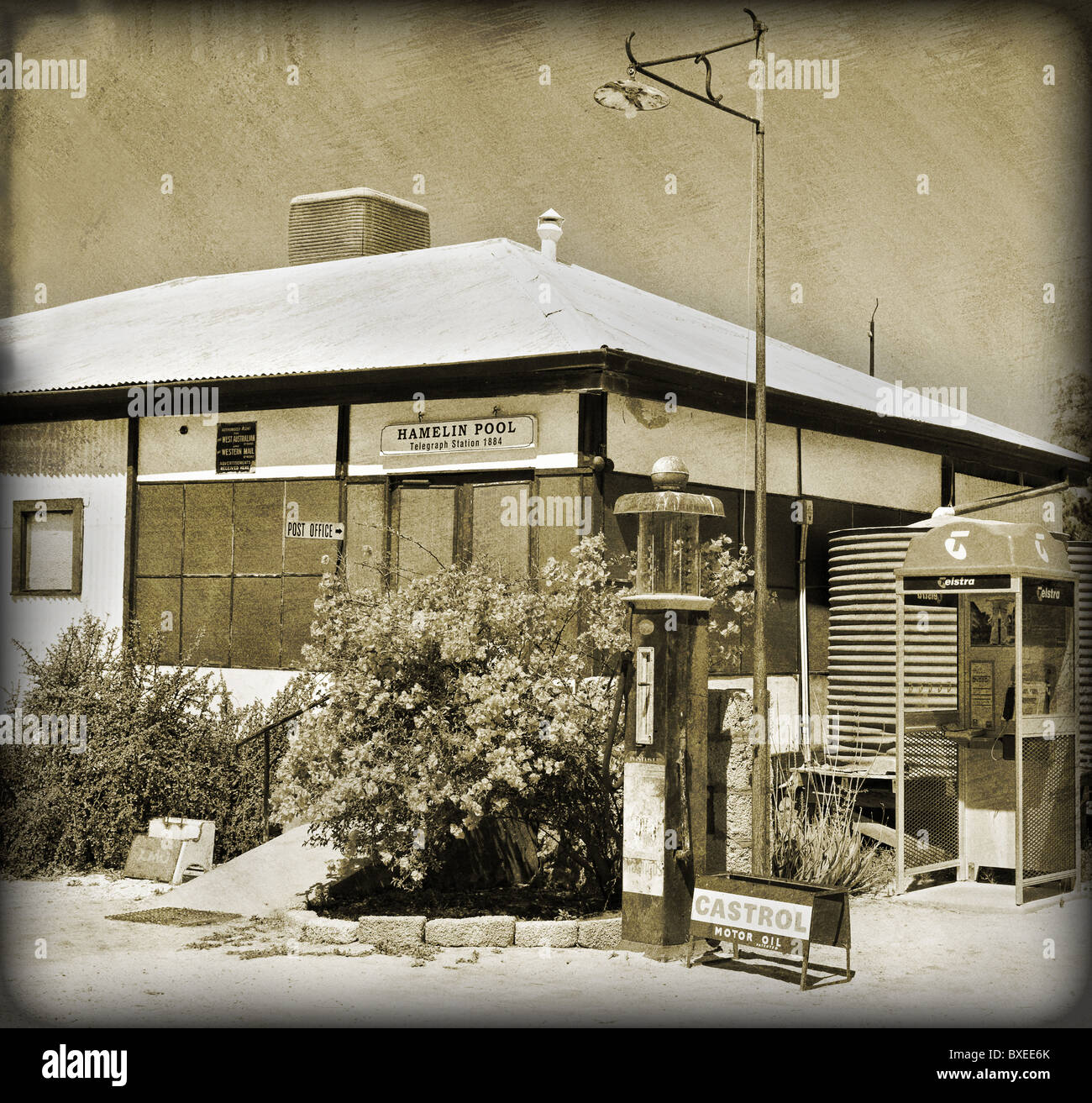 Hamelin Pool telegraph station in Western Australia - Stock Image