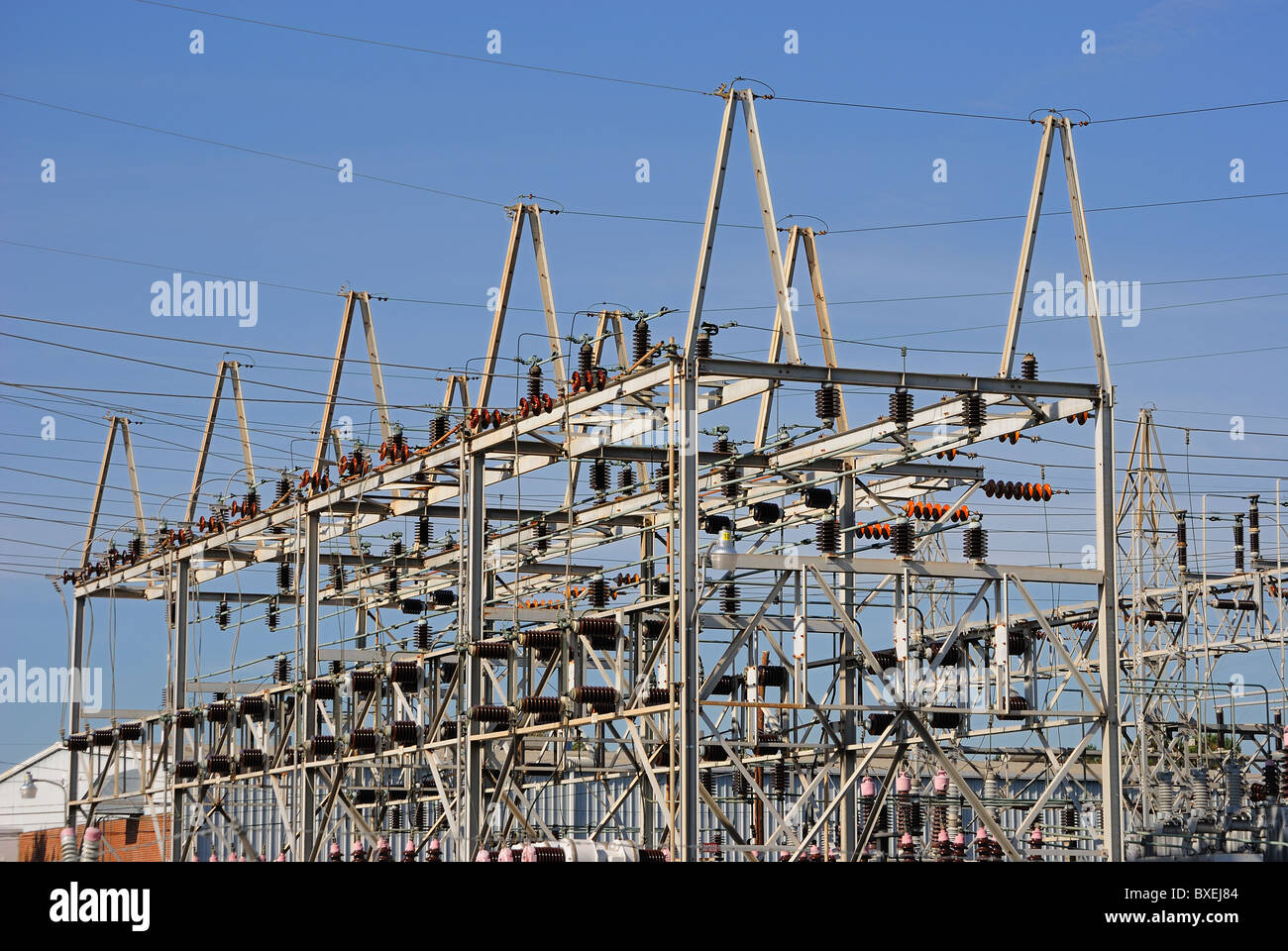 An industrial power plant - Stock Image