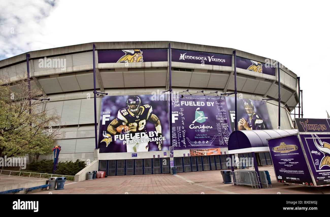 Vikings Stadium Minneapolis Metrodome downtown Minnesota - Stock Image