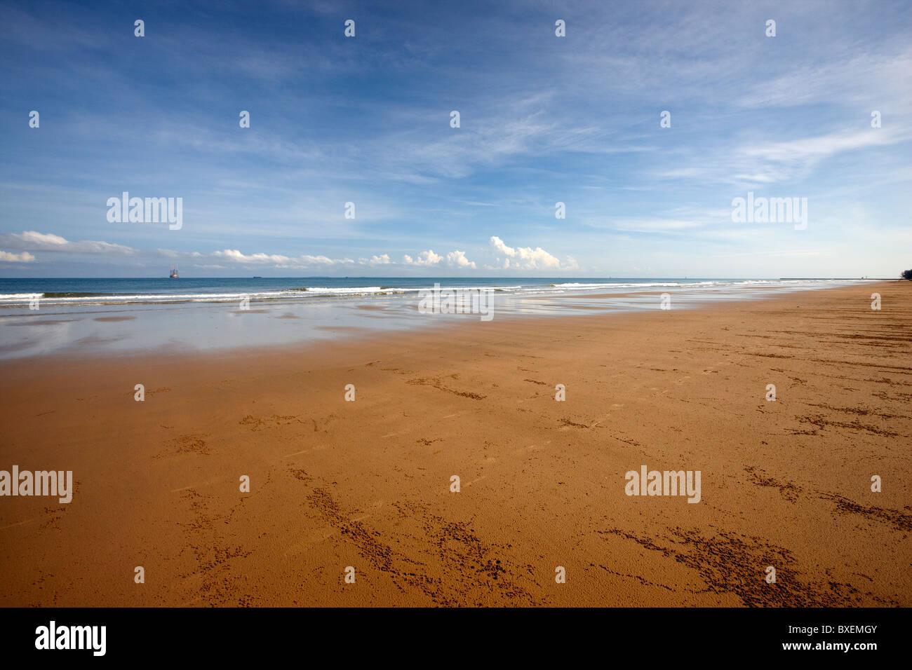 Pantai Muara beach, Muara, Brunei Darussalam, Asia - Stock Image