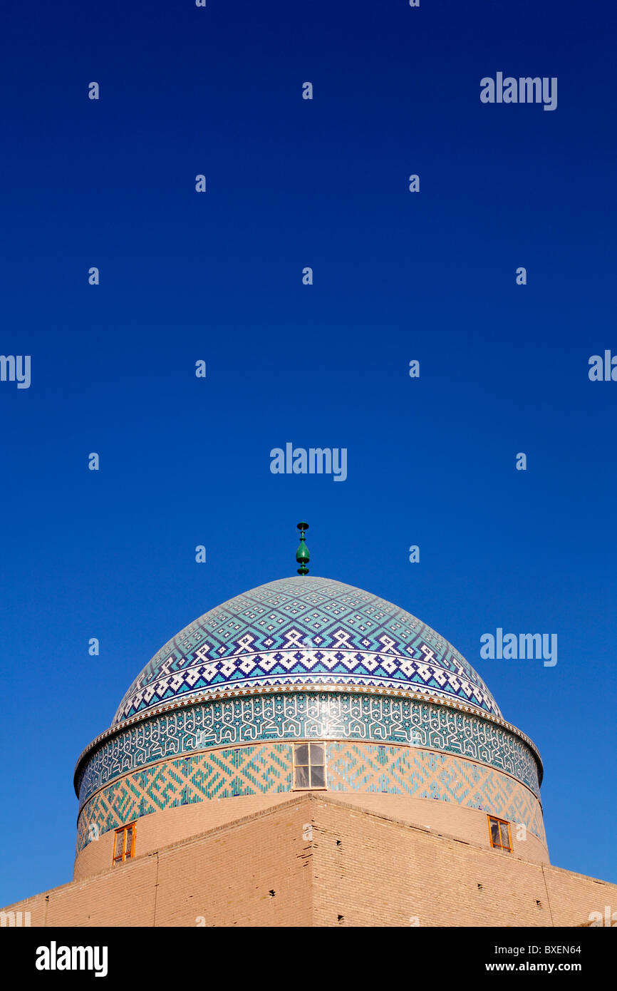 The dome of the shrine Imamzadeh Rokna al-din, Yazd, Iran - Stock Image