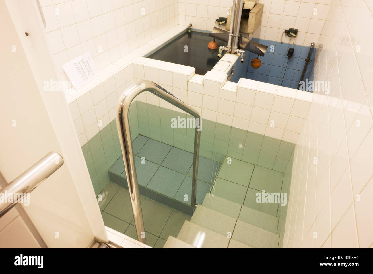 The Jewish faith Mikveh baths where recent converts to Judaism bathe in private, at the Sternberg Centre. London. - Stock Image