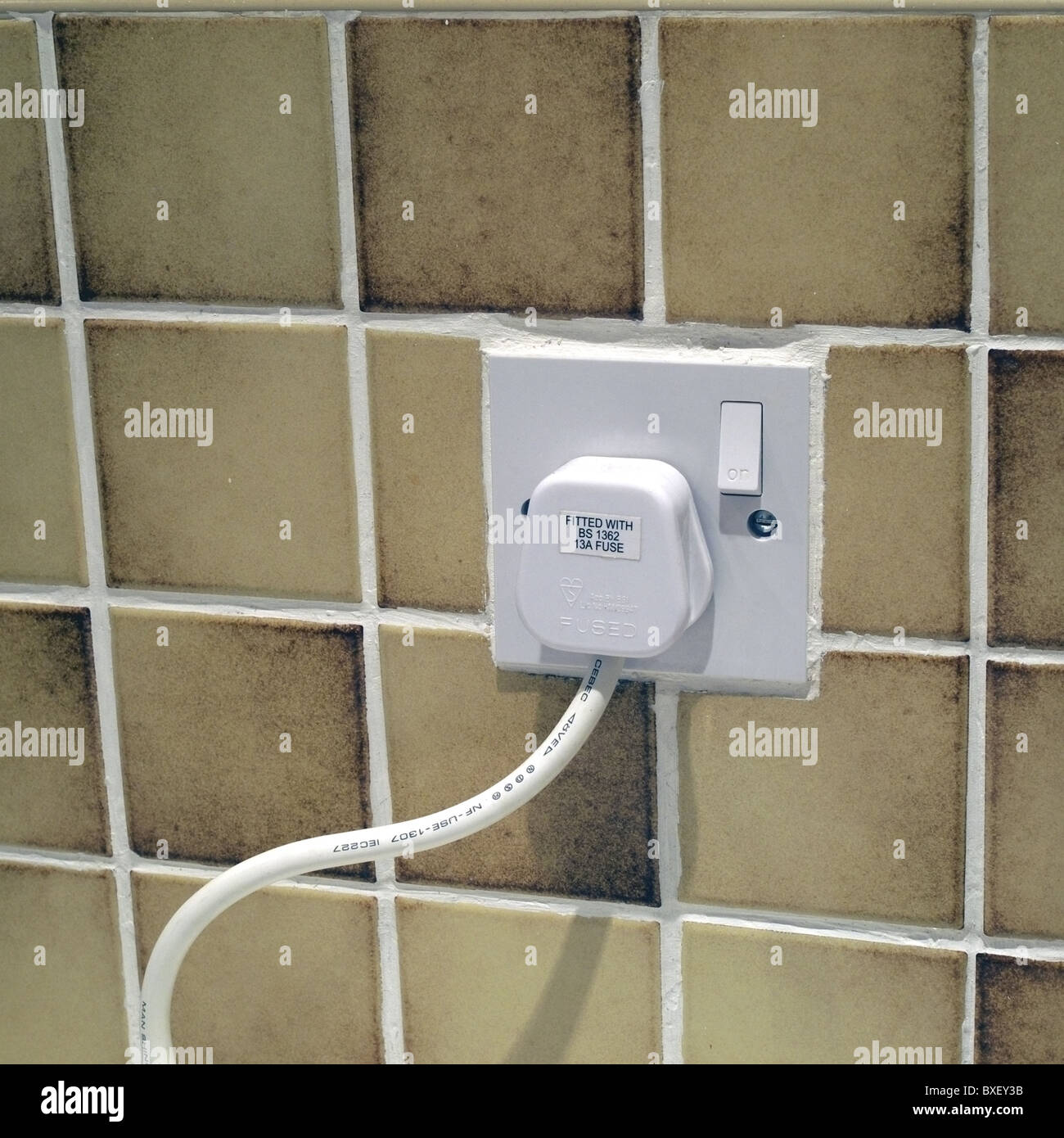 3 Pin Plug Stock Photos Images Alamy Wiring A Wall Socket South Africa And Three Fused Switched Off Uk Image