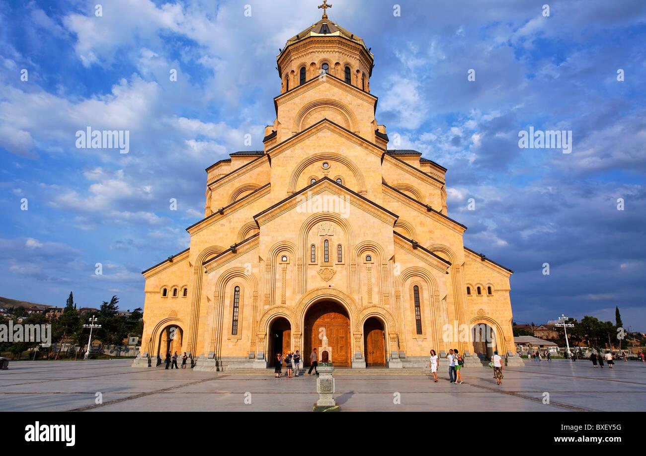 Georgia - Tbilisi - Tsminda Sameba Cathedral - Stock Image