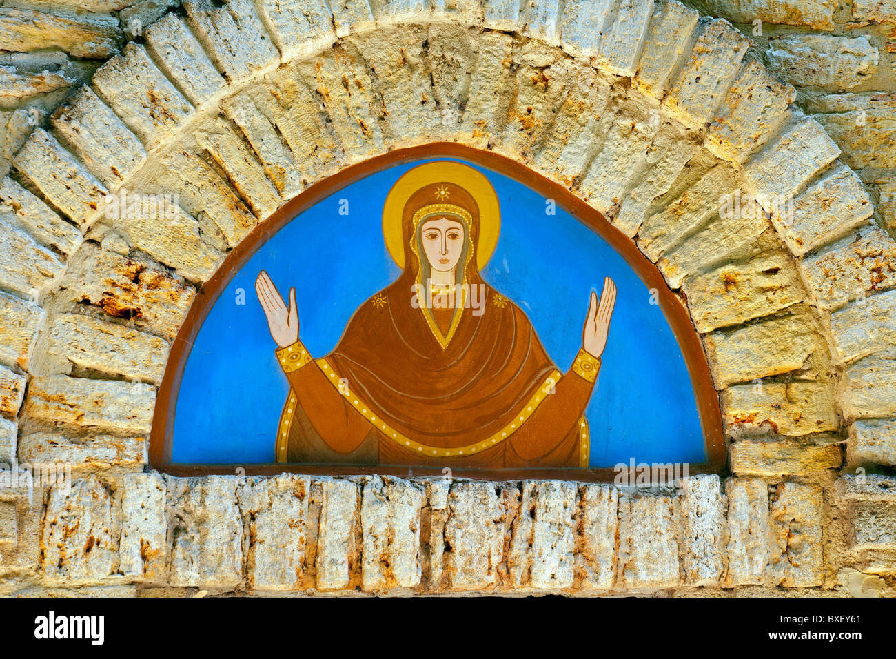 Decoration from the Stella Maris Chapel in Balchik, Bulgaria - Stock Image