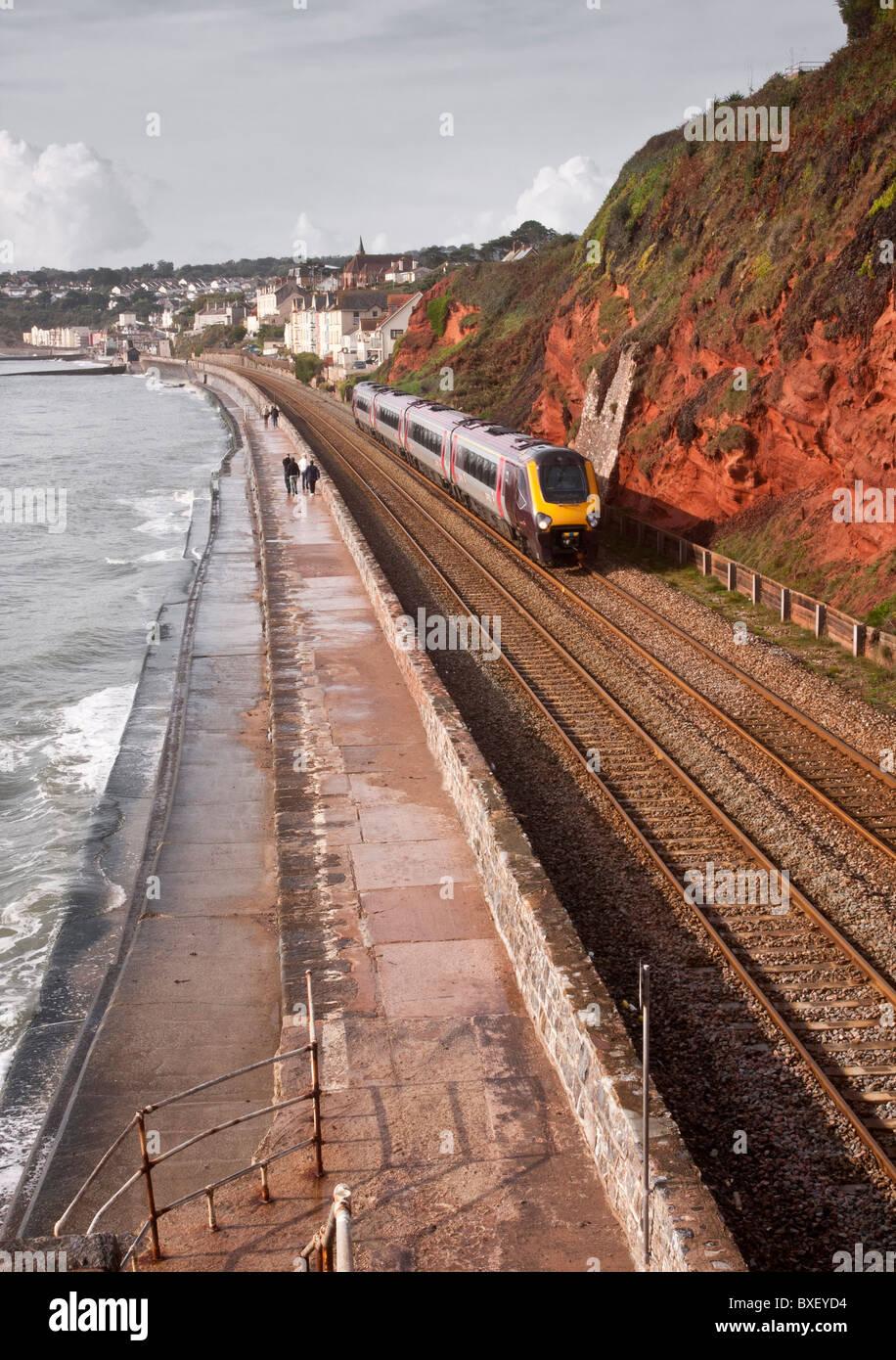 Southwest Railway line at Dawlish, UK Stock Photo