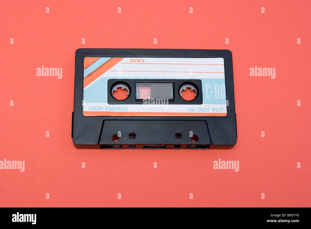 old audio tape - Stock Image