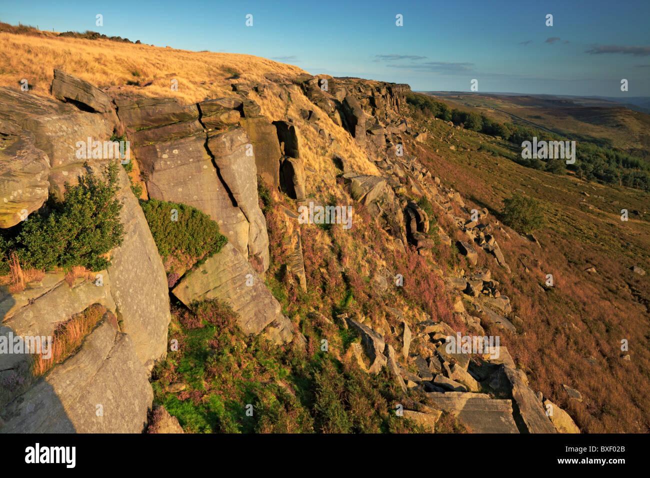 Stanage Edge, Dark Peak,The Peak District,Derbyshire. - Stock Image