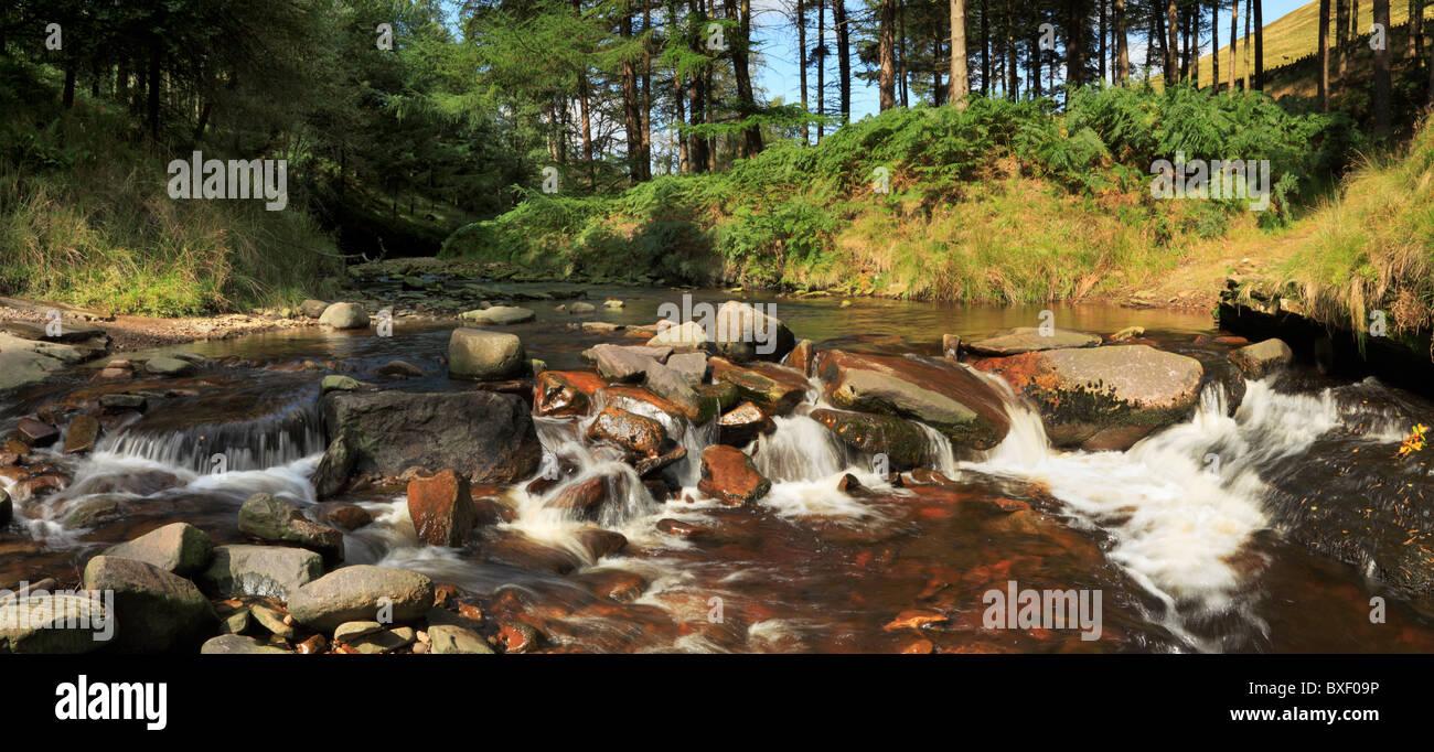 Slippery Stones ford, River Derwent, Dark Peak, The Peak District, Derbyshire - Stock Image