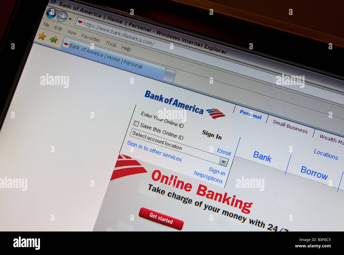 Cyber war: Bank of America has stopped handling WikiLeaks transactions - Stock Image