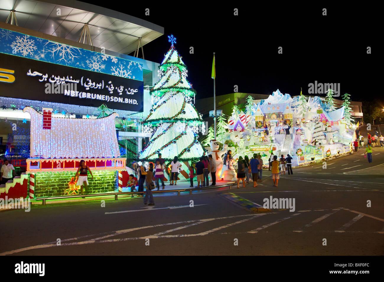 Christmas Decorations at the Lexus Dealership, Bandar Seri Begawan, Brunei Darussalam, Asia - Stock Image