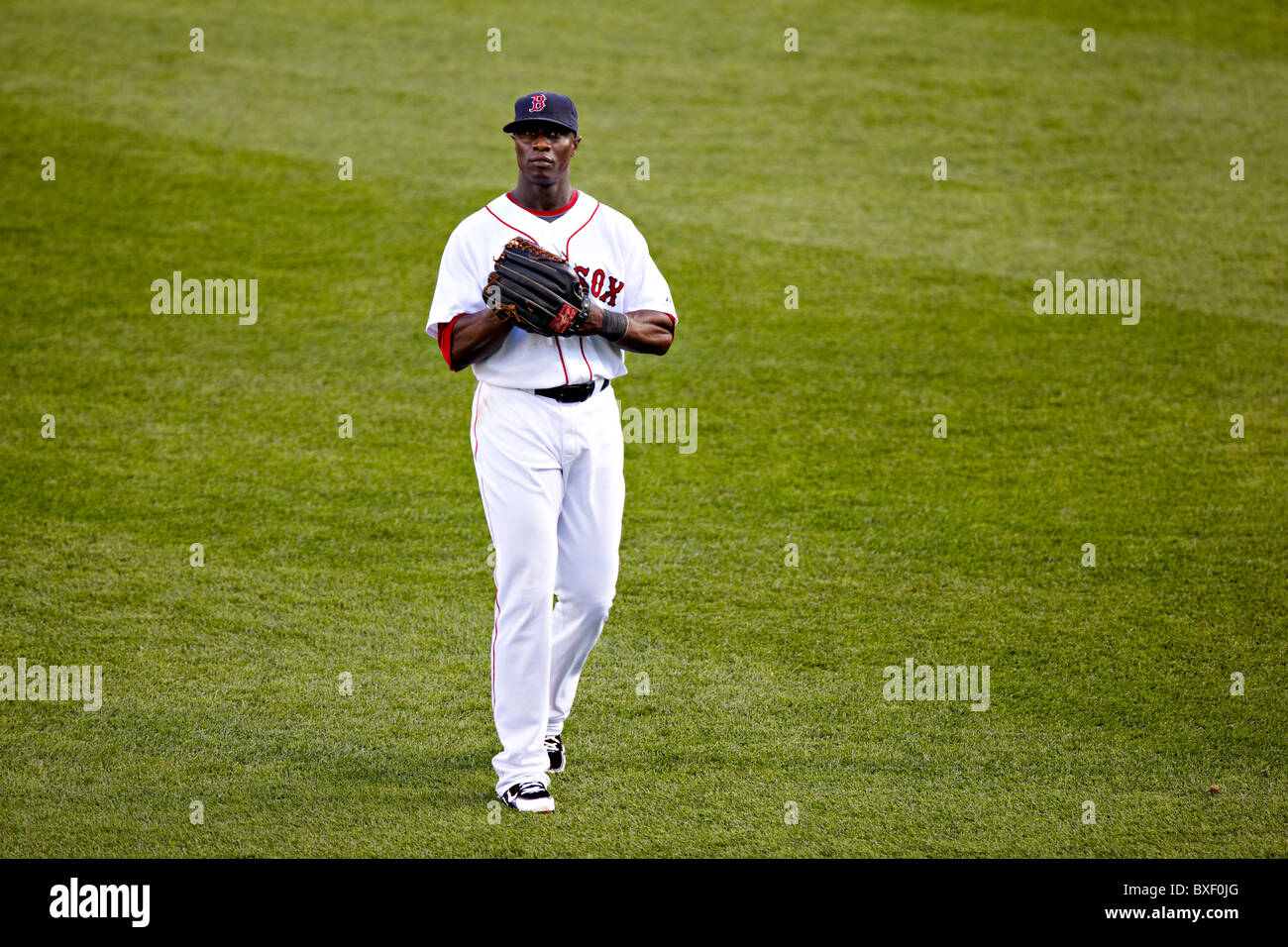 Mike Cameron during the July 15, 2010 Red Sox game in Fenway Park, Boston - Stock Image