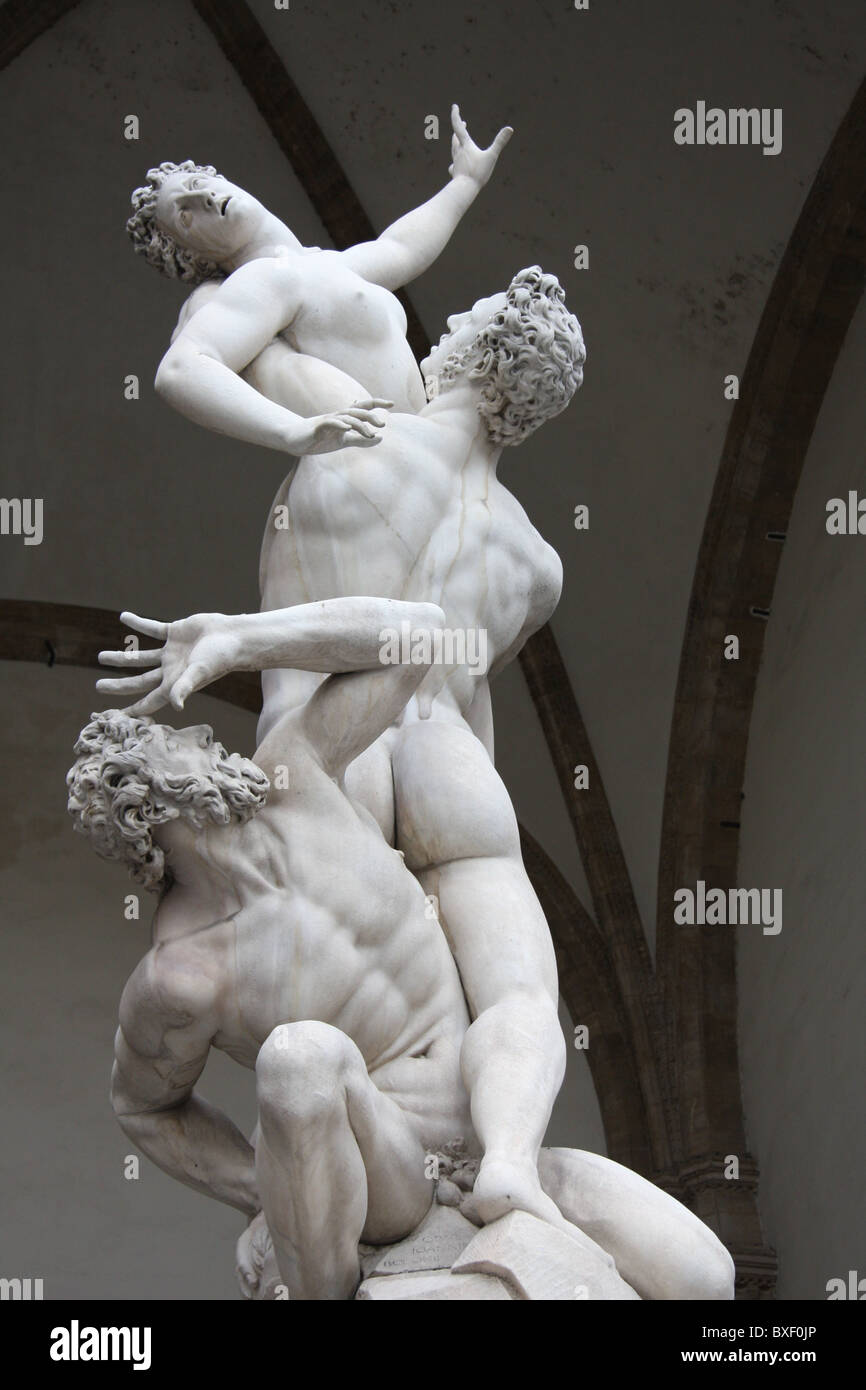 Statue in Florence - Stock Image