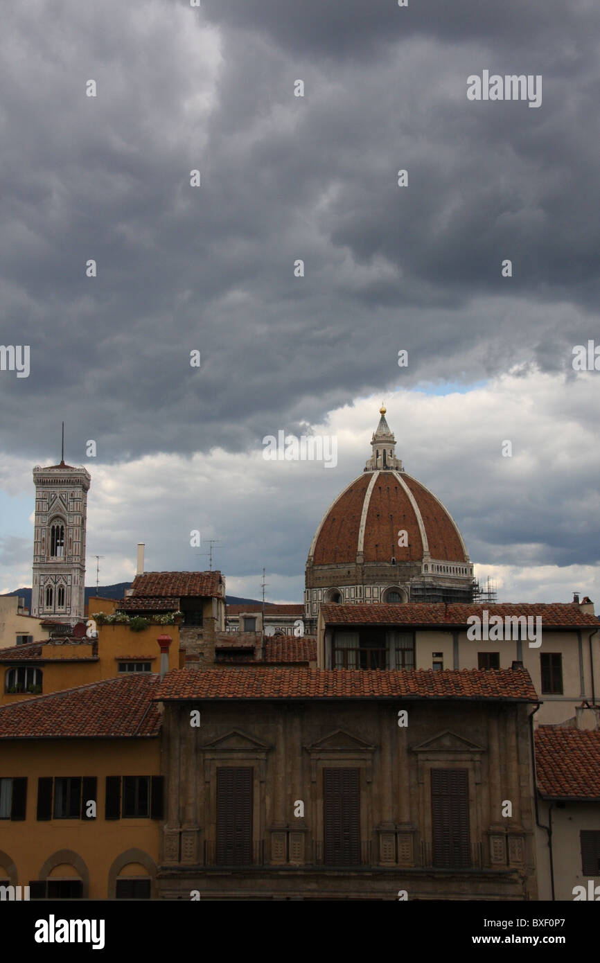 Florence before the rain - Stock Image