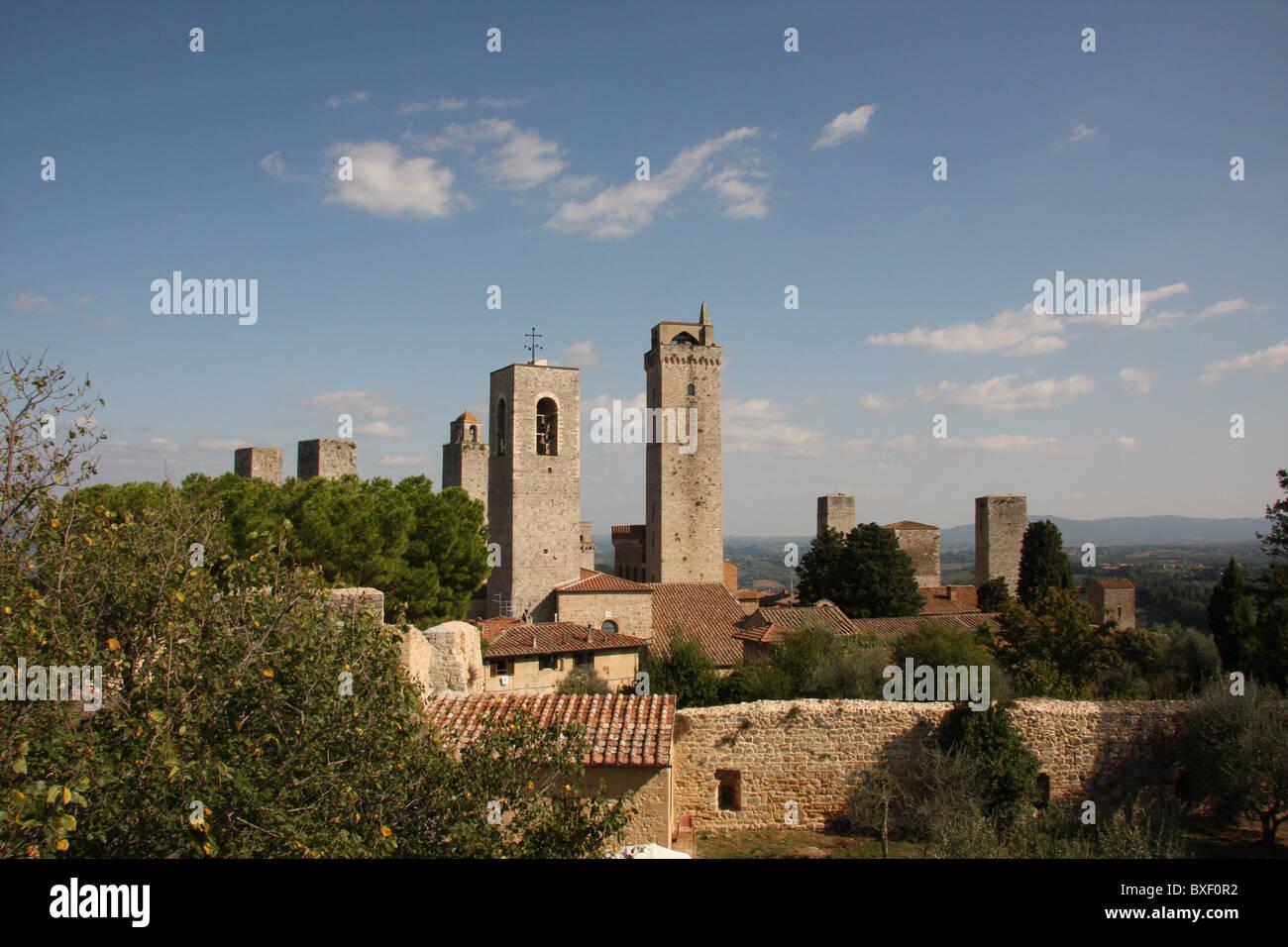 View of San Gimignano - Stock Image