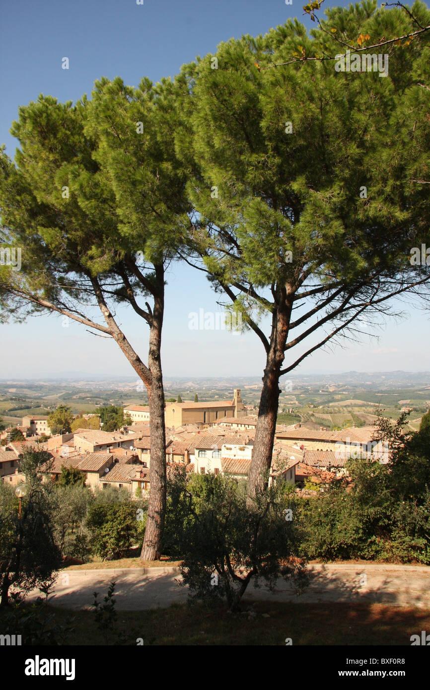 View of San Gimignano, Tuscany - Stock Image
