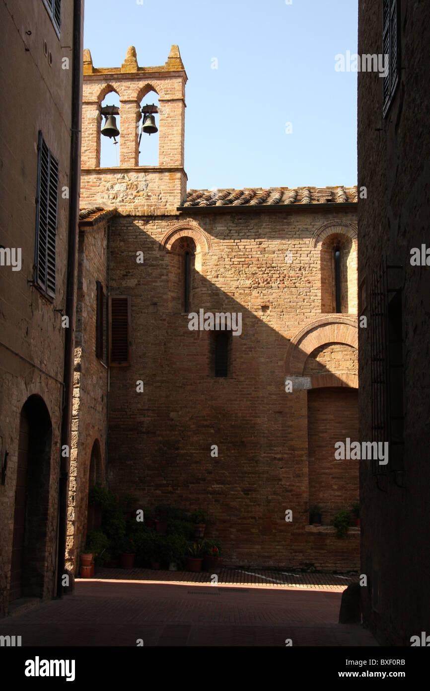 A street of San Gimignano in Tuscany - Stock Image
