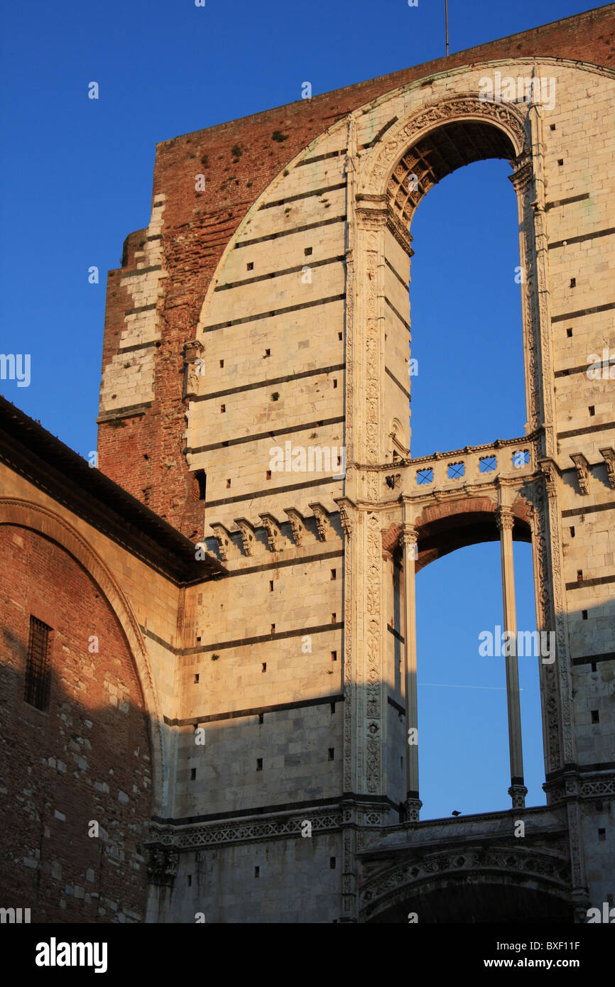Details of a monument of Siena in Italy - Stock Image