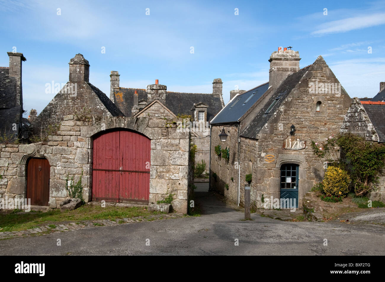 Brittany, Locronan - Stock Image