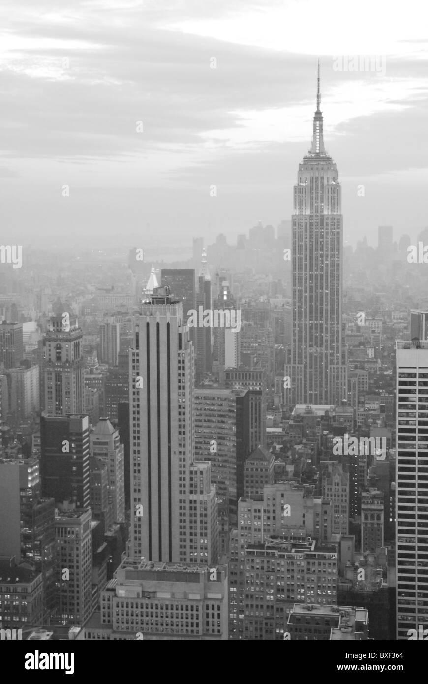 Abendlicher Blick über Manhattan - Stock Image