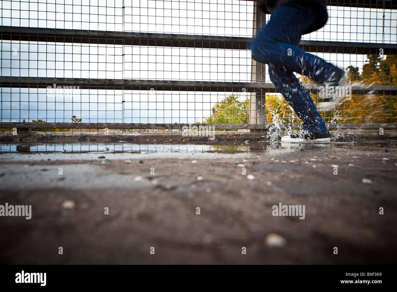 running outside - Stock Image