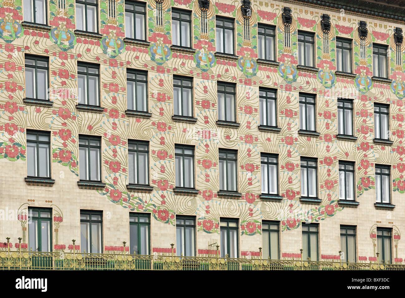 Vienna Austria Majolikahaus Apartment Building Facade 1899 By Modern