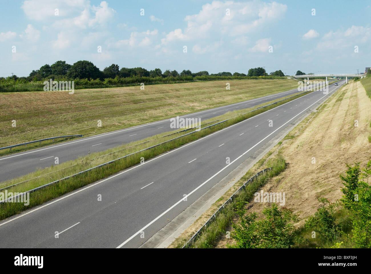 A131 dual-carriageway stretch near Braintree Essex UK - Stock Image
