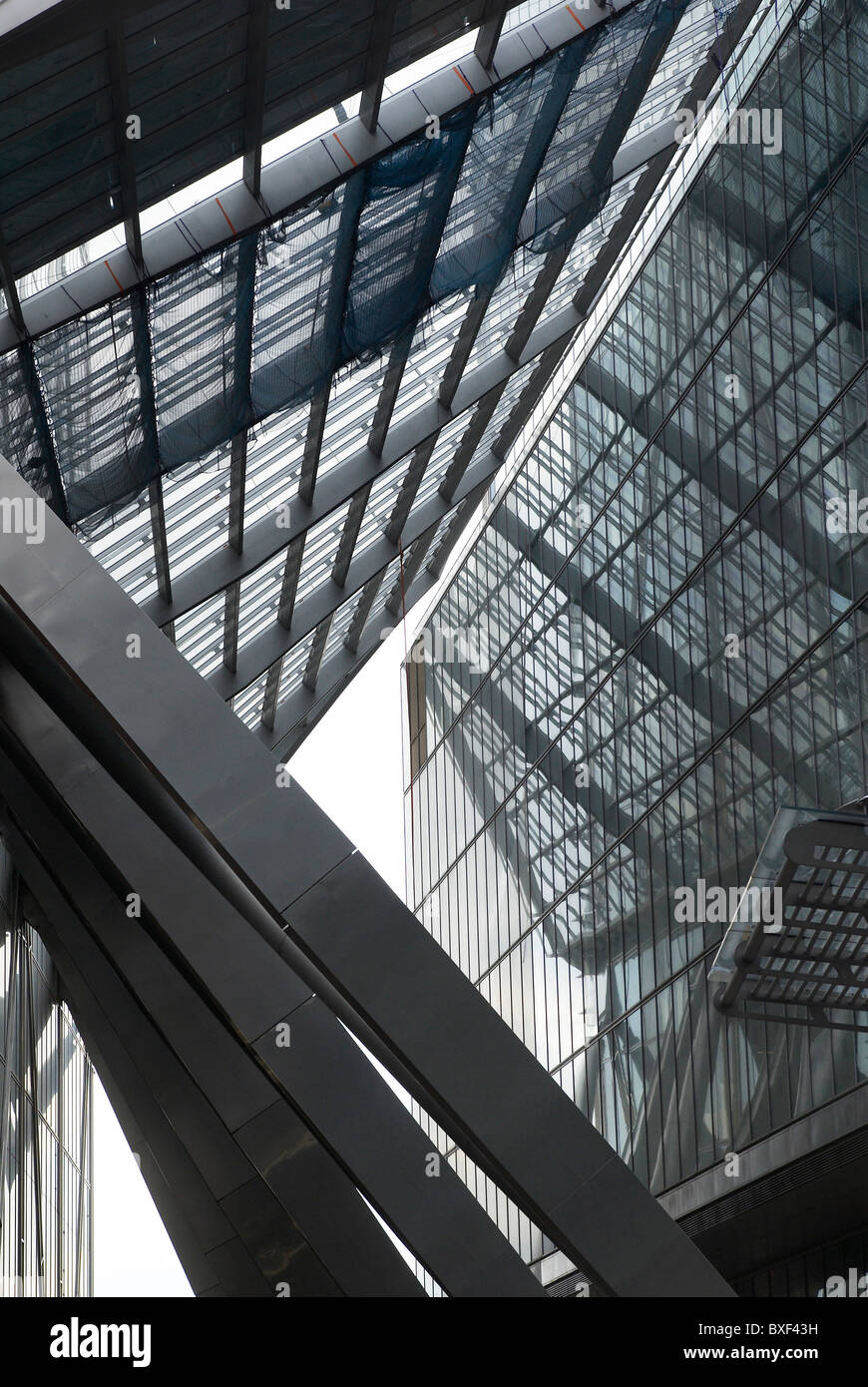 201 Bishopsgate and The Broadgate Tower designed by Skidmore Owings & Merrill Broadgate Central London UK - Stock Image