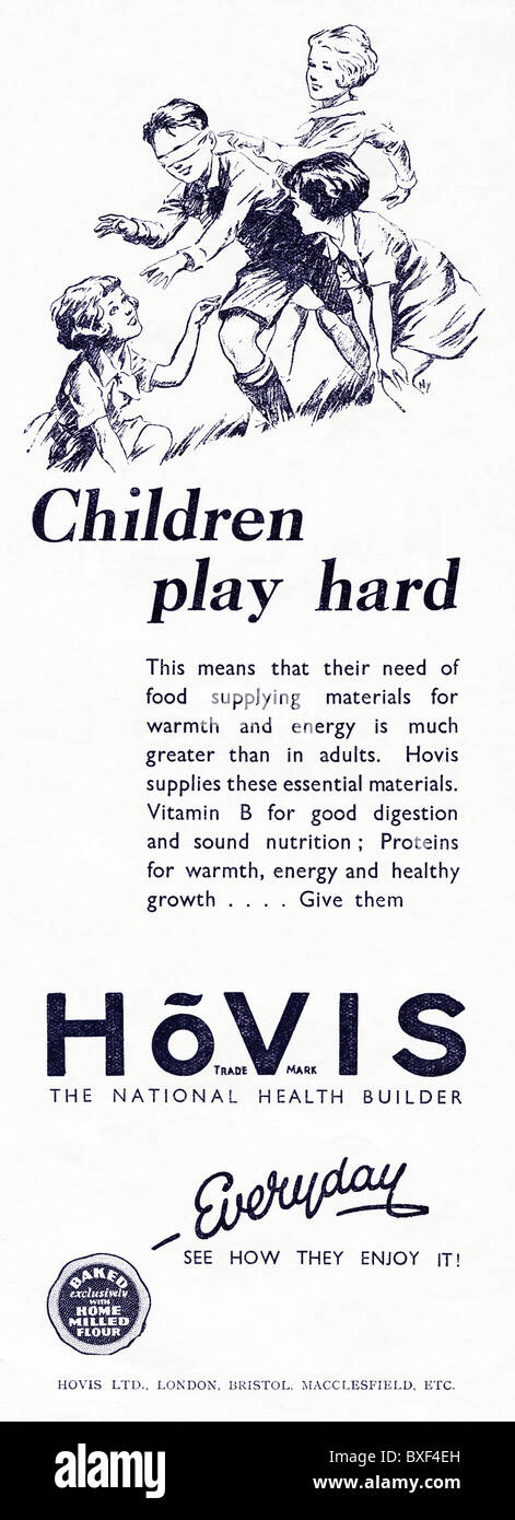 1931 advertisement for Hovis bread - Stock Image