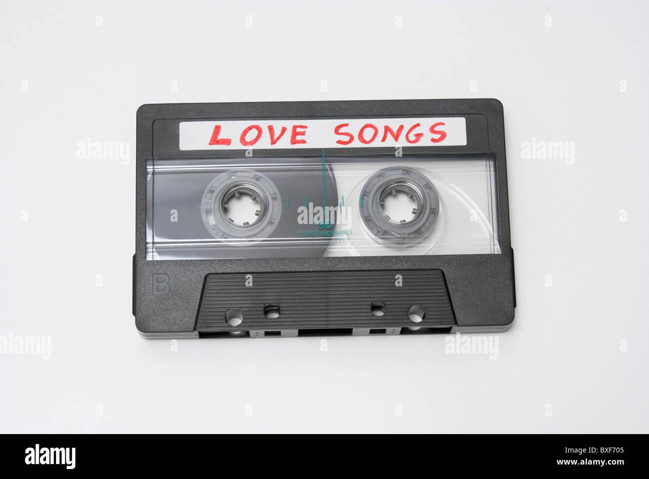 love songs audio cassette - Stock Image