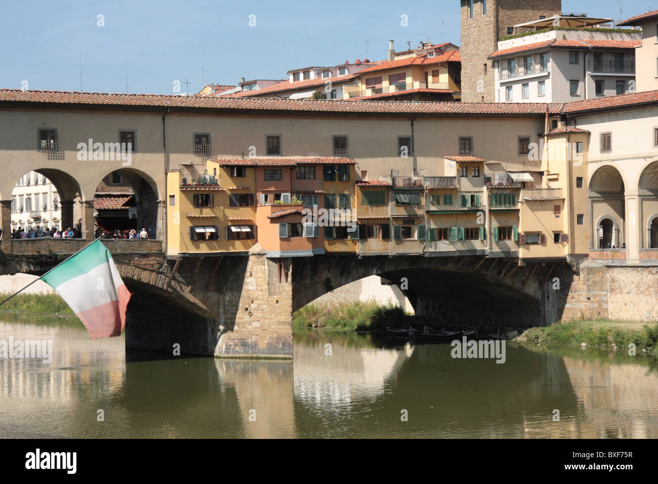 The Ponte Vecchio in Florence - Stock Image