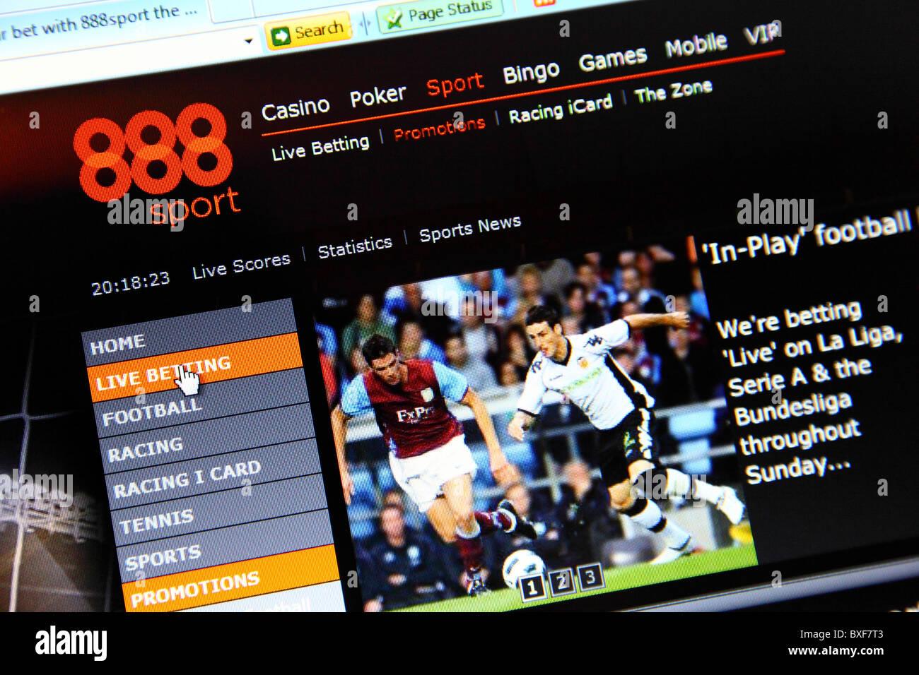 888.com online betting website. - Stock Image