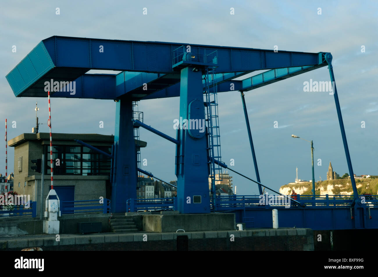Pont Ango in Dieppe in the Seine Maritime (76) departement of France - Stock Image
