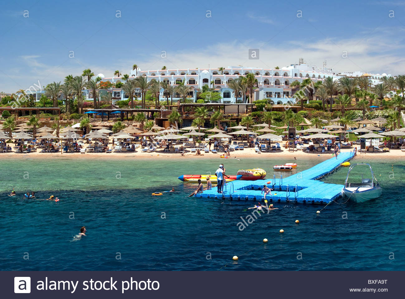 Tourist resort in Sharm el Sheikh - Egypt - Red Sea - Stock Image