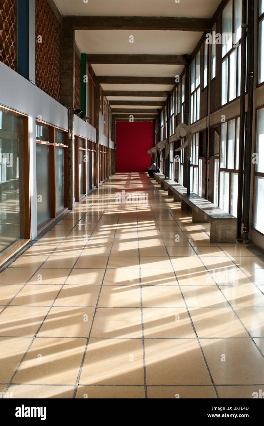 Le Corbusier Unite D Habitation corridor, unite d'habitation by le corbusier, marseille