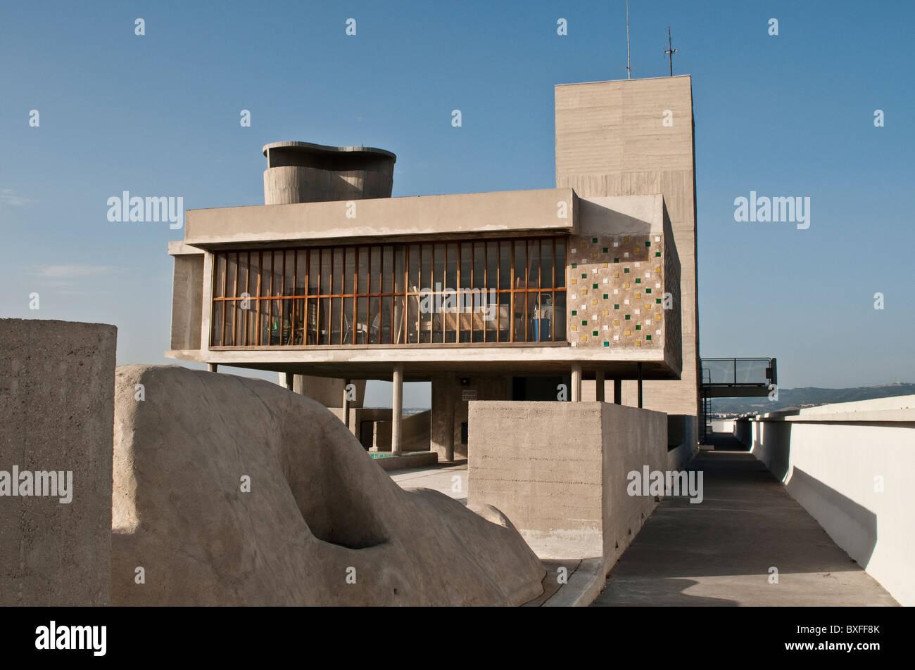 Le Corbusier Unite D Habitation roof terrace, unite d'habitation by le corbusier, marseille