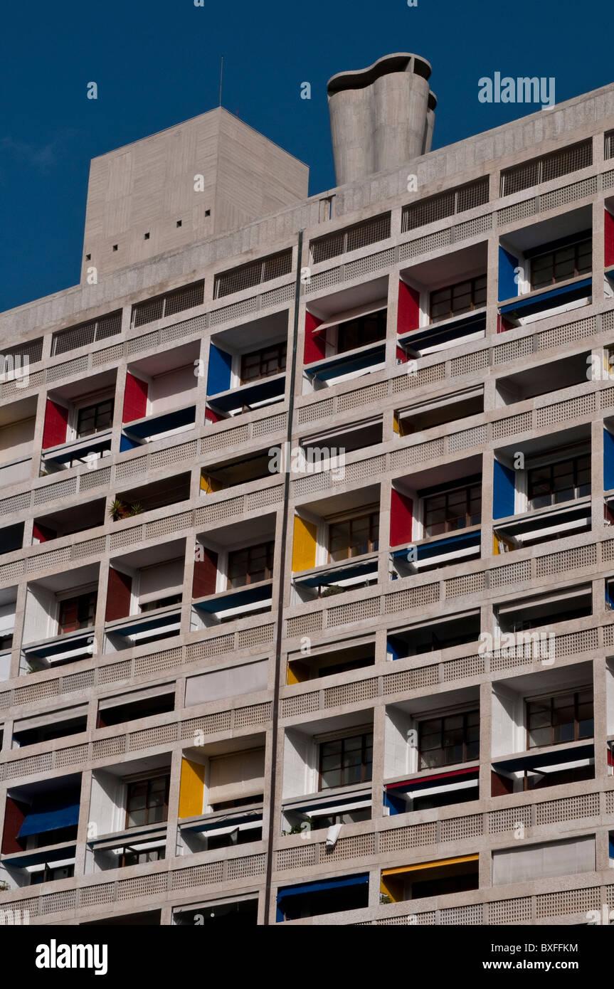 Unite d'Habitation by Le Corbusier, Marseille, France - Stock Image