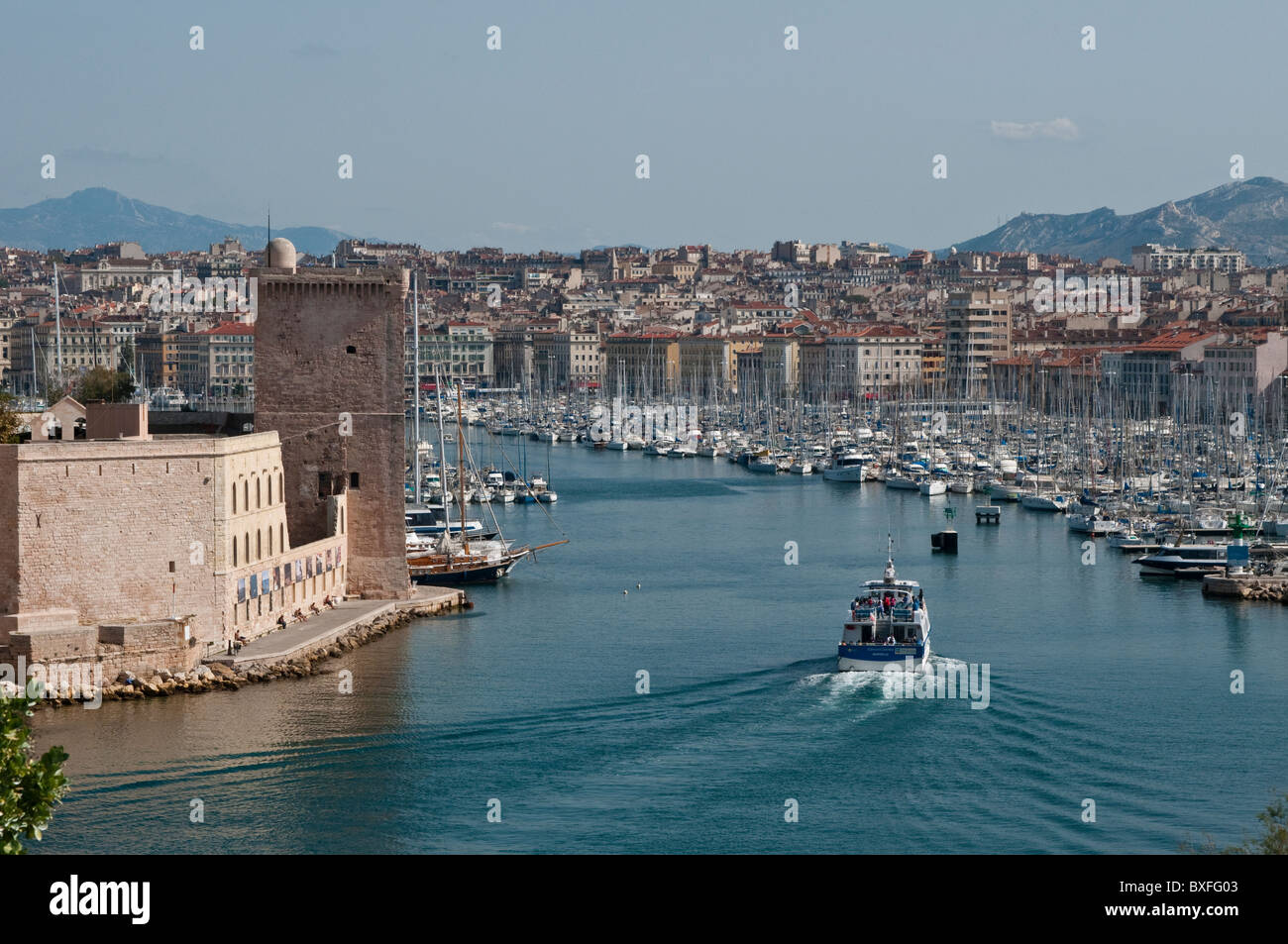 Vieux Port, Old Harbour, Marseille, France - Stock Image