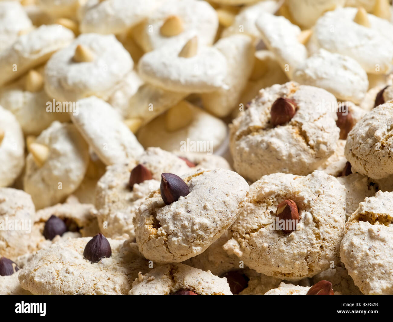 Closeup View Of Two Types Of Christmas Cookies Stock Photo 33533315