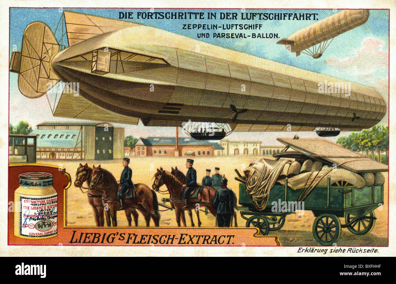 transport / transportation, aviation, airships, one of the first zeppelins by Graf Zeppelin, filled with gas, military - Stock Image
