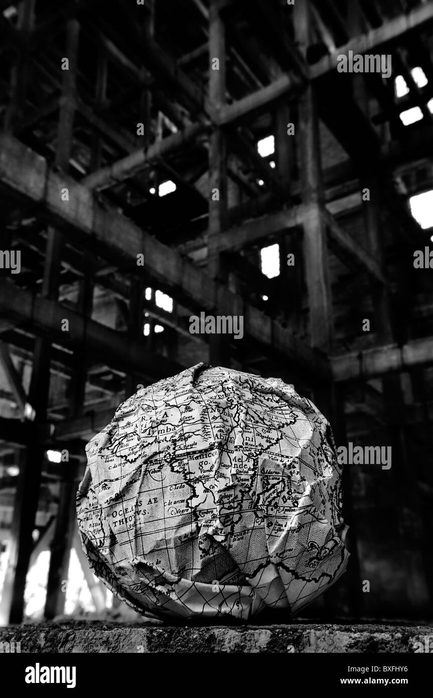World globe map - Stock Image