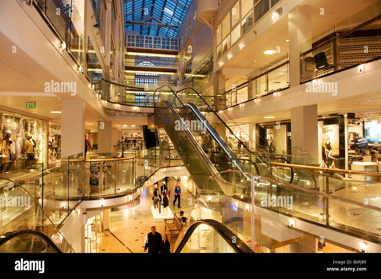 Aker Brygge shopping mall, Oslo Norway - Stock Image
