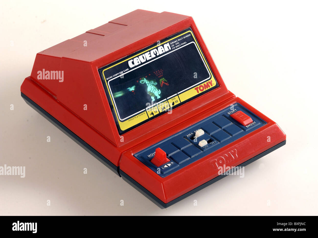 toys, Tomy Caveman, electronic toy by Tomy, Micro Computer Game, Japan, 1982, Additional-Rights-Clearences-NA - Stock Image
