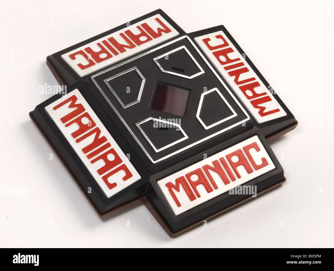 toys, Maniac, electronic toy of the Japanese manufacturer Ideal Toy Corporation, early video game, handhelt, Japan, - Stock Image