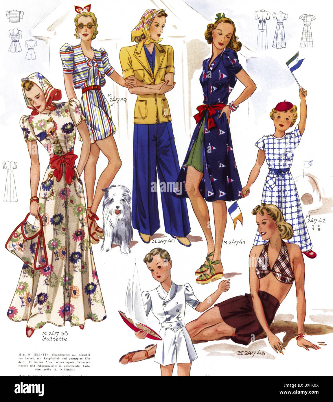fashion 1930s beach fashion women in bathing suits pattern from stock photo 33535626 alamy. Black Bedroom Furniture Sets. Home Design Ideas