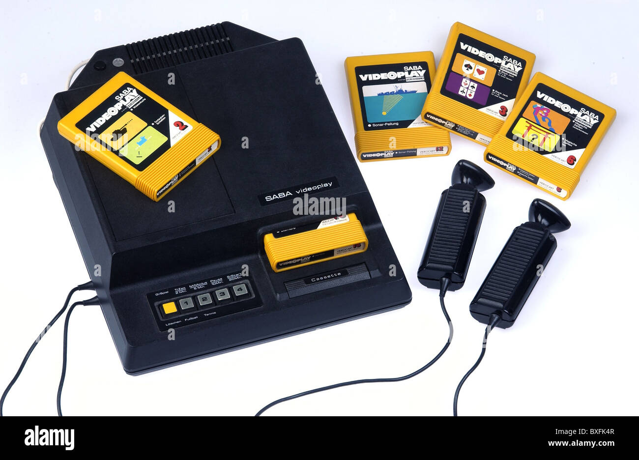 games, video games, video game Saba Videoplay, first video game with replaceable game module, Germany, 1976, Additional - Stock Image