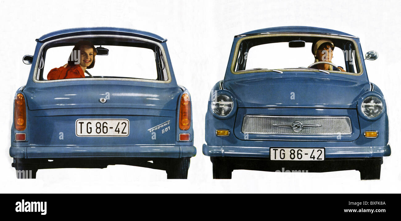 transport / transportation, car, vehicle variants, Trabant 601, VEB Sachsenring Automobilwerke Zwickau, East-Germany, - Stock Image