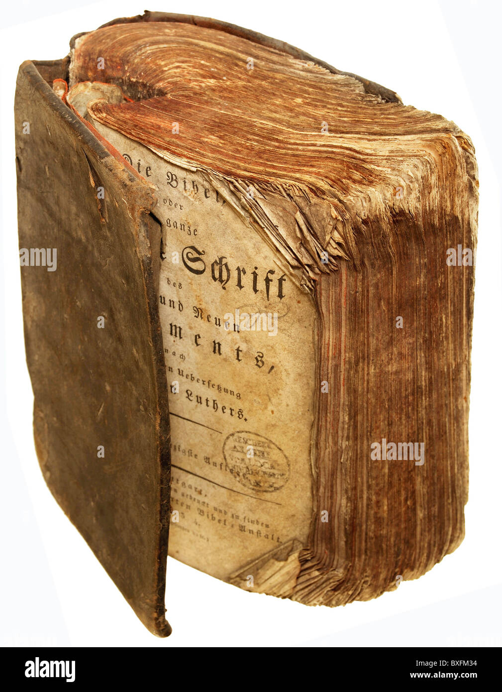 literature, books, The Bible, Old and New Testament, Germany, 1834, Additional-Rights-Clearences-NA - Stock Image