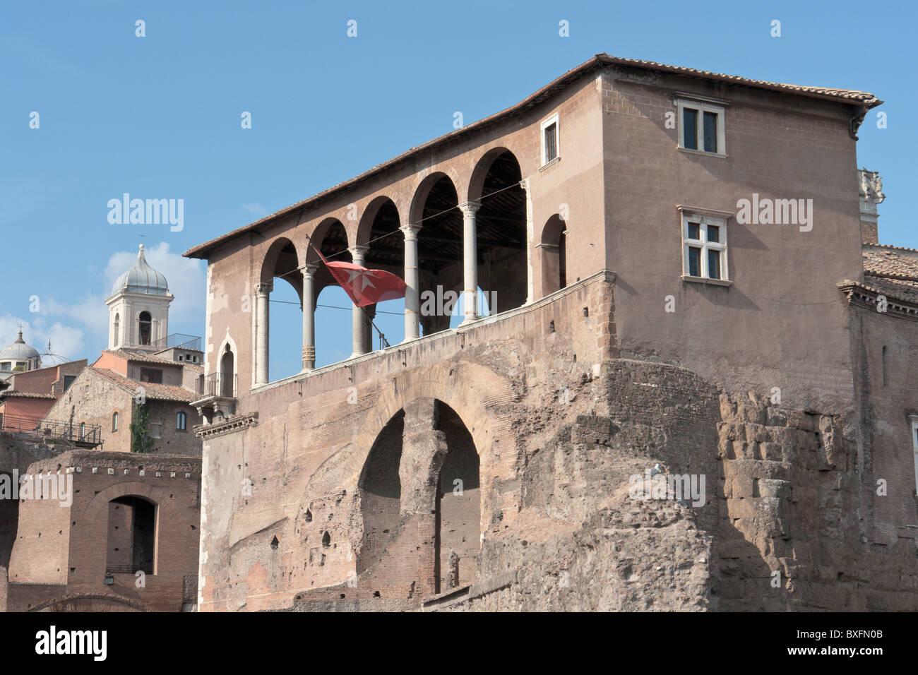 Loggia dei Cavalieri di Rodi in Rome Stock Photo