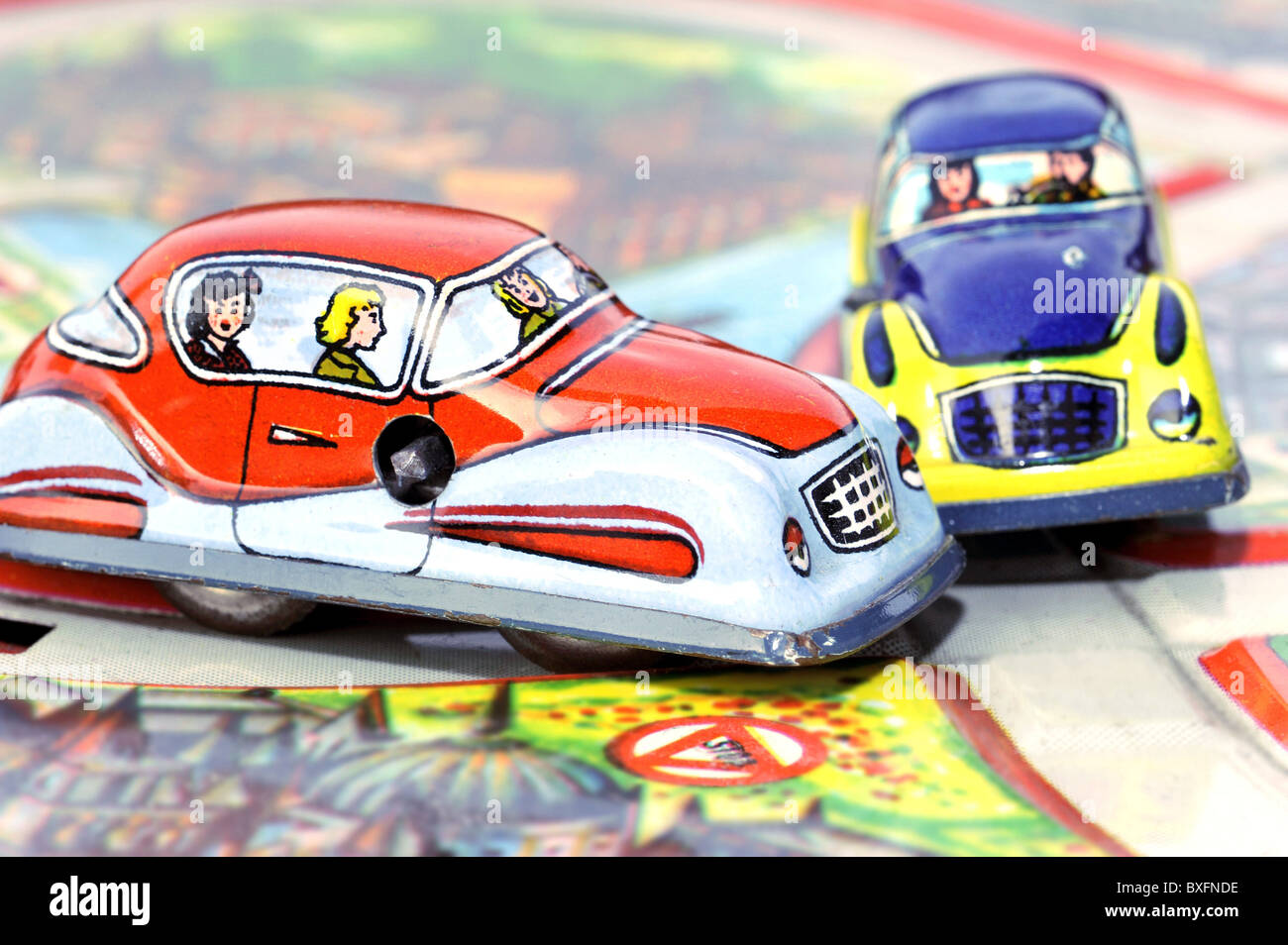 Toys Toy Cars Car Crash Germany 1950s 50s 20th Century Stock